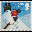 图库照片: English Christmas Postage Stamp