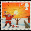English Christmas Postage Stamp — Foto Stock