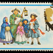 English Christmas Postage Stamp — Stok fotoğraf