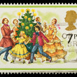 Englsih Christmas Postage Stamp — Stock Photo