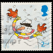 English Christmas Postage Stamp — 图库照片