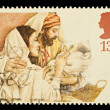 English Christmas Postage Stamp — Stock Photo #4124739