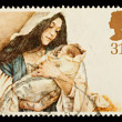 English Christmas Postage Stamp — Foto de stock #4124743