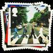 Stock Photo: Beatles Pop Group Postage Stamp