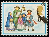 English Christmas Postage Stamp — Stock Photo