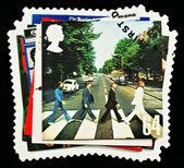 Znaczek pocztowy pop grupy beatles — Zdjęcie stockowe