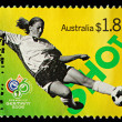 Australian Postage Stamp Showing 2006 World Cup — Stock Photo #4297980
