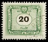 Francobollo di ungheria — Foto Stock