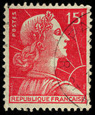 France Postage Stamp — Stock Photo