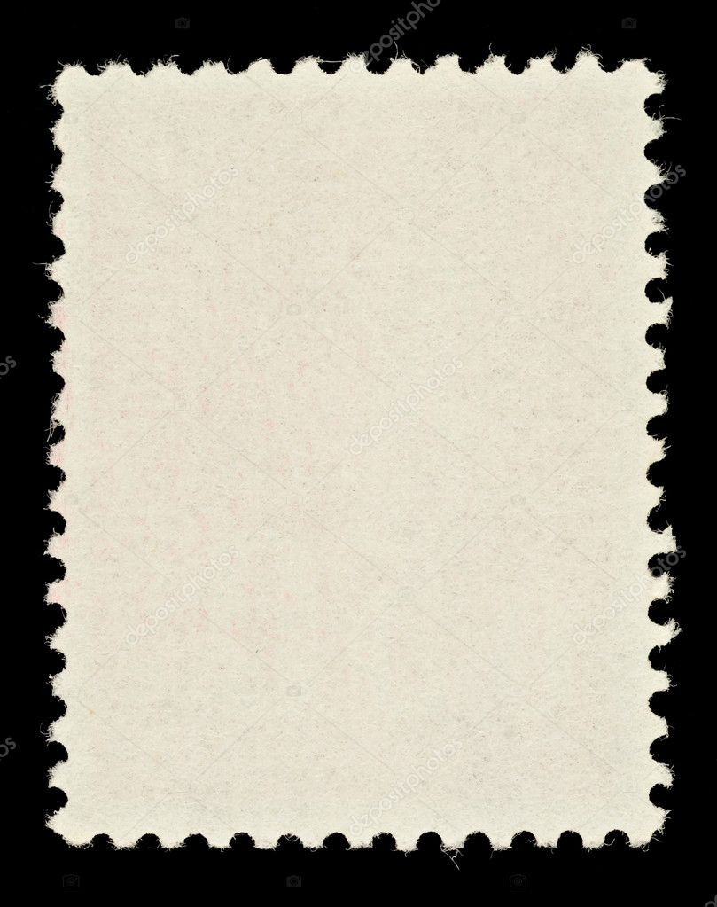 Blank Postage Stamp Template Framed by Black Border — Stock Photo #4297708