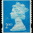 Royalty-Free Stock Photo: England Second Class Postage Stamp