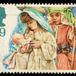 Stock Photo: England Christmas Postage Stamp