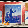 England Christmas Postage Stamp — Stock Photo