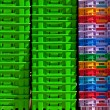 Colorful plastic containers. — Stock Photo