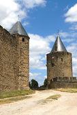 カルカソンヌの城の塔 — ストック写真