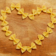 Heart made with pasta — Stock Photo