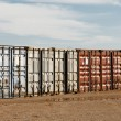 Stock Photo: Shipping Export Freight Containers