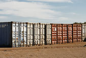 Shipping Export Freight Containers — Stock Photo