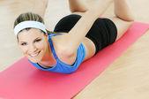 Sportive woman — Stock Photo