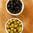 Tasted olives - Stock Photo