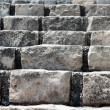 Stock Photo: Old stone brick staircase closeup