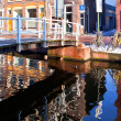 House reflection in the canal of Delft - Stock Photo