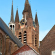 Delft Old Church Tower — Stock Photo