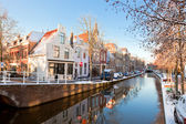 Delft residential district — Stock Photo
