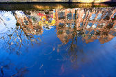 House reflection in the canal of Delft — Stock Photo