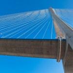 Normandy bridge view (Pont de Normandie, France) — Zdjęcie stockowe #4652048