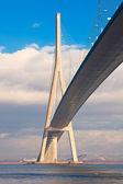 Normandy bridge view (Pont de Normandie, France) — Stock Photo