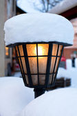 Streetlamp in winter — Stock Photo