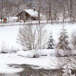 Alpine village at snow winter — Stock Photo #4851012