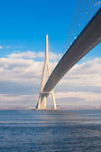 Normandy bridge view (Pont de Normandie, France) — Stock Photo