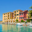 Hotel in Sirmione, Italy - Stock Photo