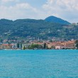 View Over Lake Garda and Salo town — Stock Photo