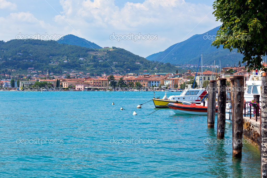 View Over Lake Garda and Salo town in Italy  Stock Photo #5134944