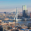 Rotterdam view from Euromast tower - Stock Photo