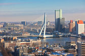 Rotterdam view from Euromast tower — Stock Photo