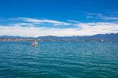 Boat ride on Lake Garda — Stock Photo