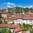 View of Bergamo Alta, Italy - Stock Photo