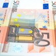 Fifty euro notes background — Stock Photo #5239950