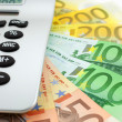 Euro notes with calculator — Stock Photo #5243830