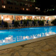 Royalty-Free Stock Photo: Pool of Greek hotel at night