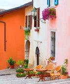 Italian small town street — Stock Photo