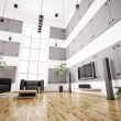 Living room interior 3d render — Stock Photo