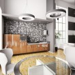 Stock Photo: interior of modern kitchen 3d