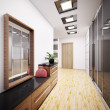 Modern vestibule interior 3d — Stock Photo #3946571
