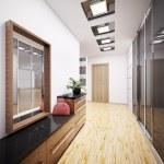 Modern vestibule interior 3d — Stock Photo