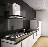 Modern kitchen interior 3d — Stock Photo